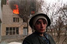 A boy in Chechnya. Photo by Mikhail Evstafiev