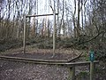 Exercise poles on footpath within Trosley Country Park - geograph.org.uk - 1752027.jpg