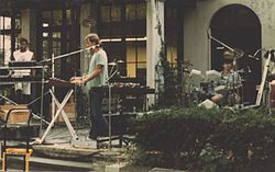 Exotic Birds in September 1984. From left to right: Adams, Kubiszewski and Freer