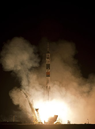 Soyuz TMA-19 - A Soyuz-FG launches Soyuz TMA-19 from Baikonur Cosmodrome, June 15, 2010.