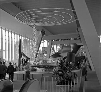 Radio Luxembourg - Radio Luxembourg at Expo 58 in Brussels, Belgium. July 1958.