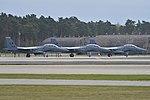 F-15 Eagle Trio, RAF Lakenheath. 22nd April 2016 (30775019142).jpg