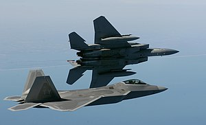 325th Operations Group - Image: F 15 and F 22
