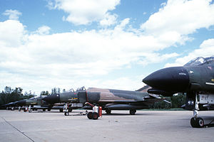 Plattsburgh Air Force Base - F-4D Phantom IIs from the 134th Tactical Fighter Squadron of the Vermont Air National Guard at Plattsburgh AFB
