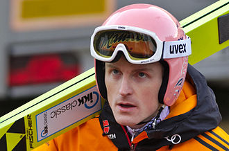 2014–15 FIS Ski Jumping World Cup - Image: FIS Ski Jumping World Cup 2014 Engelberg 20141221 Severin Freund