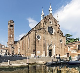 Santa Maria Gloriosa dei Frari - East front with the bell tower.