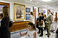 Family members of former Secretary of Defense Donald H. Rumsfeld look at his portrait following an unveiling ceremony at the Pentagon June 25, 2010 100625-D-JB366-032.jpg