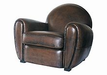 Club chair wikipedia - Fauteuil crapaud cuir marron ...