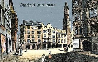 Innsbruck Town Hall - Image: Felle Innsbruck Altes Rathaus