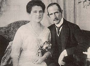 Archduke Ferdinand Karl of Austria - Ferdinand Karl and his wife Bertha Czuber (1910)