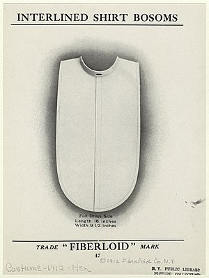 """Dickey (garment) - Advertisement for a false shirt front or """"dickey"""", 1912"""