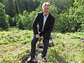 Finnish Minister of Agriculture and Forestry, Jari Koskinen, planting forest in Åsen, Levanger, Norway.jpg