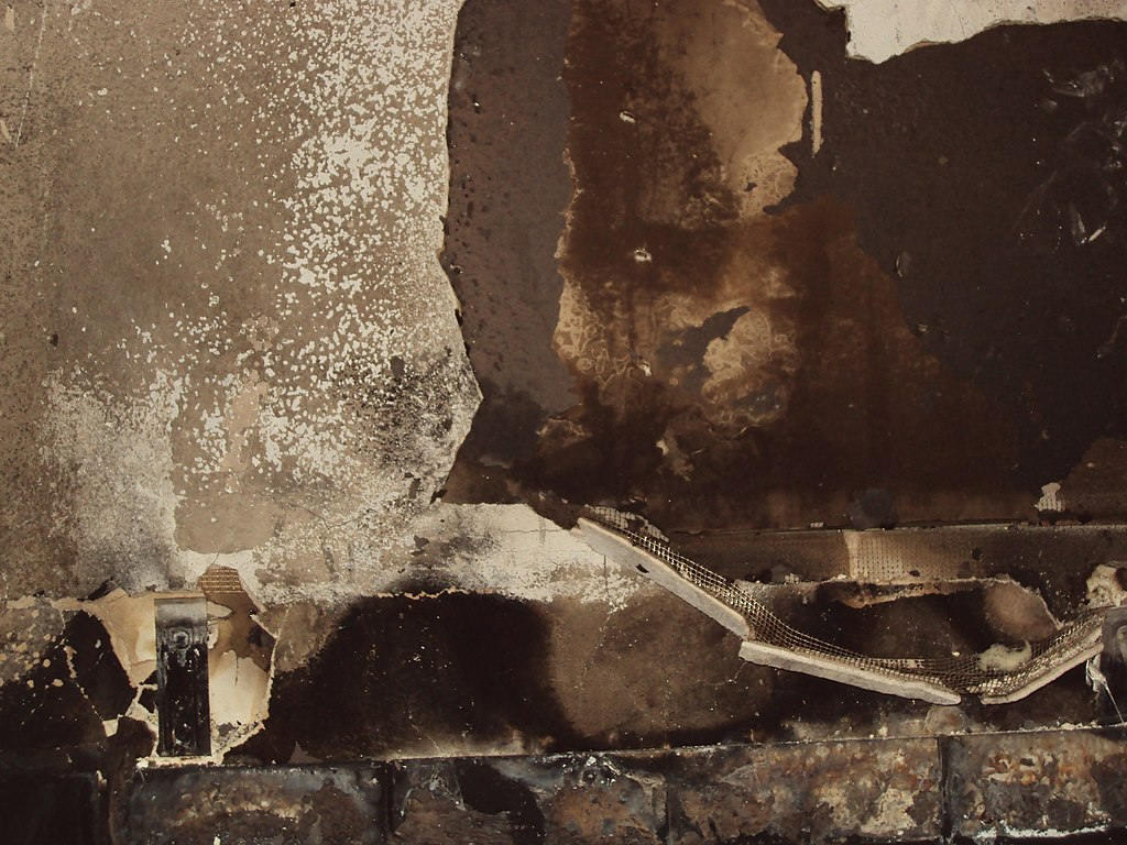 how to clean fire damaged walls