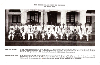 Institute of Chemistry Ceylon - The group photograph of the members who were present at the first meeting