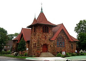 National Register of Historic Places listings in Henry County, Ohio - Image: First Presbyterian Church, Napoleon 1