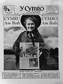 First page of 'Y Cymro' for St David's Day (6788943160).jpg