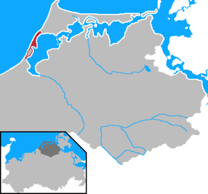 Fischland - Location of the peninsula of Fischland