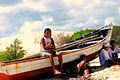 Fishermen's village long immense expanses of sand (Brazil).jpg