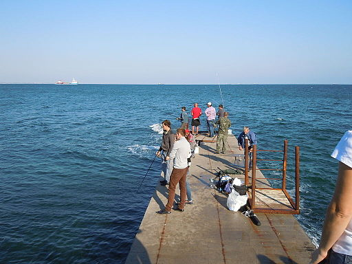 Fishermen on the Cape Langeron