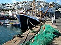 Fishing boat and net, Brixham Harbour - geograph.org.uk - 345718.jpg