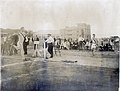Flemming of the Missouri Athletic Club winning a relay race at the 1904 Olympics.jpg