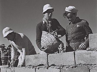Ein Zeitim - Builders in Kibbutz Ein Zeitim, 1947
