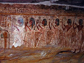 Aniba (Nubia) - Tomb of Penenut, relief in chapel