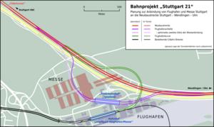 Stuttgart–Wendlingen high-speed railway - Image: Flughafenschleife Stuttgart 21