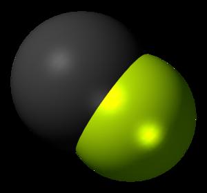 Fluoromethylidyne - Image: Fluoromethylidyne radical spacefill