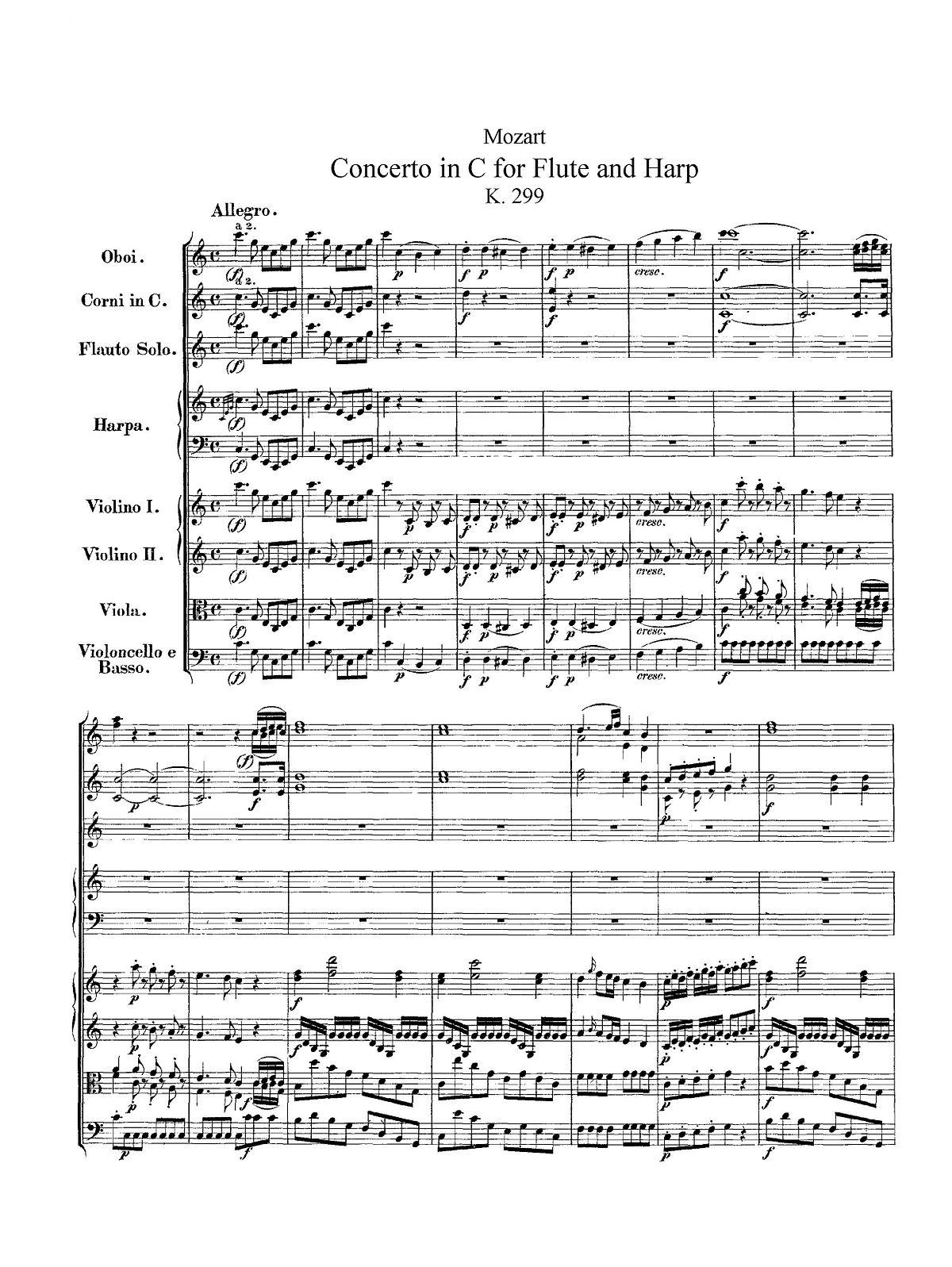 Concerto for Flute, Harp, and Orchestra (Mozart) - Wikipedia