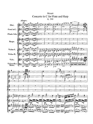 Concerto for Flute, Harp, and Orchestra (Mozart) - Opening of the first movement