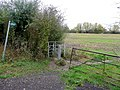 Footpath west from the lane to Walton Cardiff - geograph.org.uk - 1585245.jpg