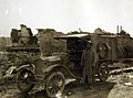 Ford ambulance used to carry rations to dressing station of Field Hospital 307 at Blanzy, France, 1918 (31447772034).jpg