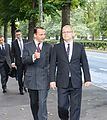 Foreign Minister Urmas Paet met with Foreign Minister of the Republic of Poland Radoslaw Sikorski in Tallinn. 27 August 2012 (7871441766).jpg