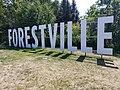 Forestville-Québec-Affiche à l'entrée ouest de la ville-juillet 2018.jpg