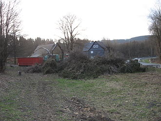 Woodchips - Large woodchipper in Germany