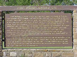 Fort Buford - Fort Buford marker, North Dakota, 2003