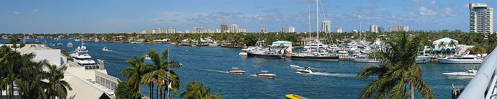 The Fort Lauderdale harbor and skyline