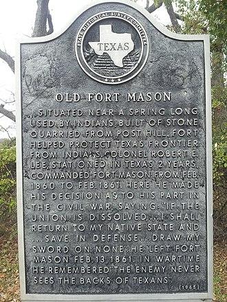Fort Mason (Texas) - Image: Fort Mason