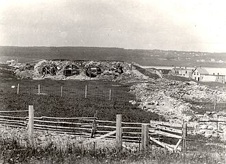 National Historic Sites of Canada - The initial focus of the program was strictly on commemoration rather than preservation or restoration.  The ruins of the Fortress of Louisbourg were designated in 1920, but efforts to restore the fortress did not commence until 1961.