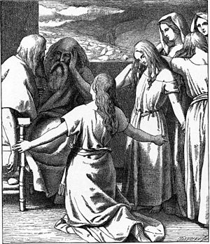Daughters of Zelophehad - The Daughters of Zelophehad (illustration from the 1897 Bible Pictures and What They Teach Us by Charles Foster)