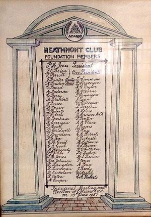 Heathmont Bowls Club - Founding members of Heathmont Club