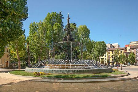Fuente de las granadas, Granada, España