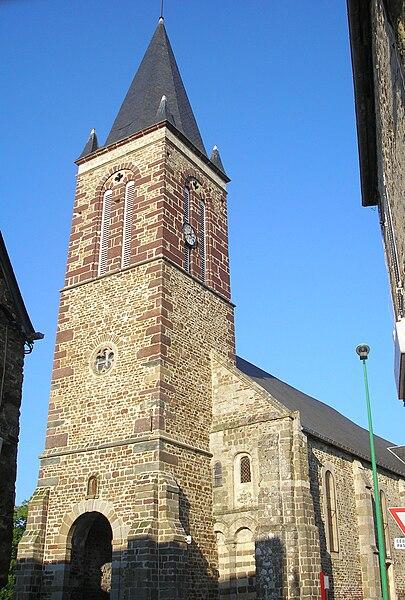 Torigni-sur-Vire (Normandie, France). L'église Notre-Dame du Grand-Vivier.