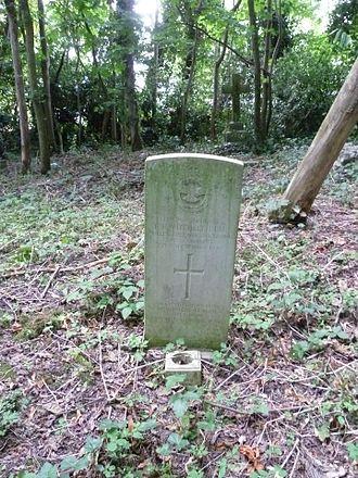 Bells Hill Burial Ground - Frank B. Mitchell's grave at Bells Hill.