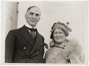 Frank O. Salisbury - Frank and Alice Salisbury on board the S.S. Olympic in New York City, 1927