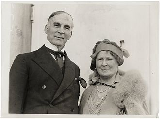 Frank O. Salisbury - Frank and Alice Salisbury on board the S.S. Olympic in New York City, 1927
