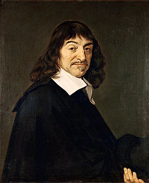 Portrait of René Descartes, dubbed the