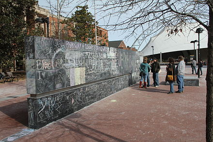 Permanent Free Speech Wall in Charlottesville, Virginia, U.S.