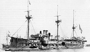 Amédée Courbet - The station ironclad Bayard, Courbet's flagship